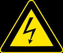 Aviso Rede Elétrica 220v Voltagem